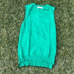 Zara green knit sleeveless vest